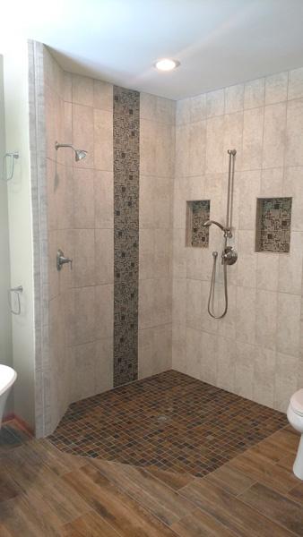 Maplewood Master Bathroom Remodel Rollin Shower - Bathroom remodel woodbury mn
