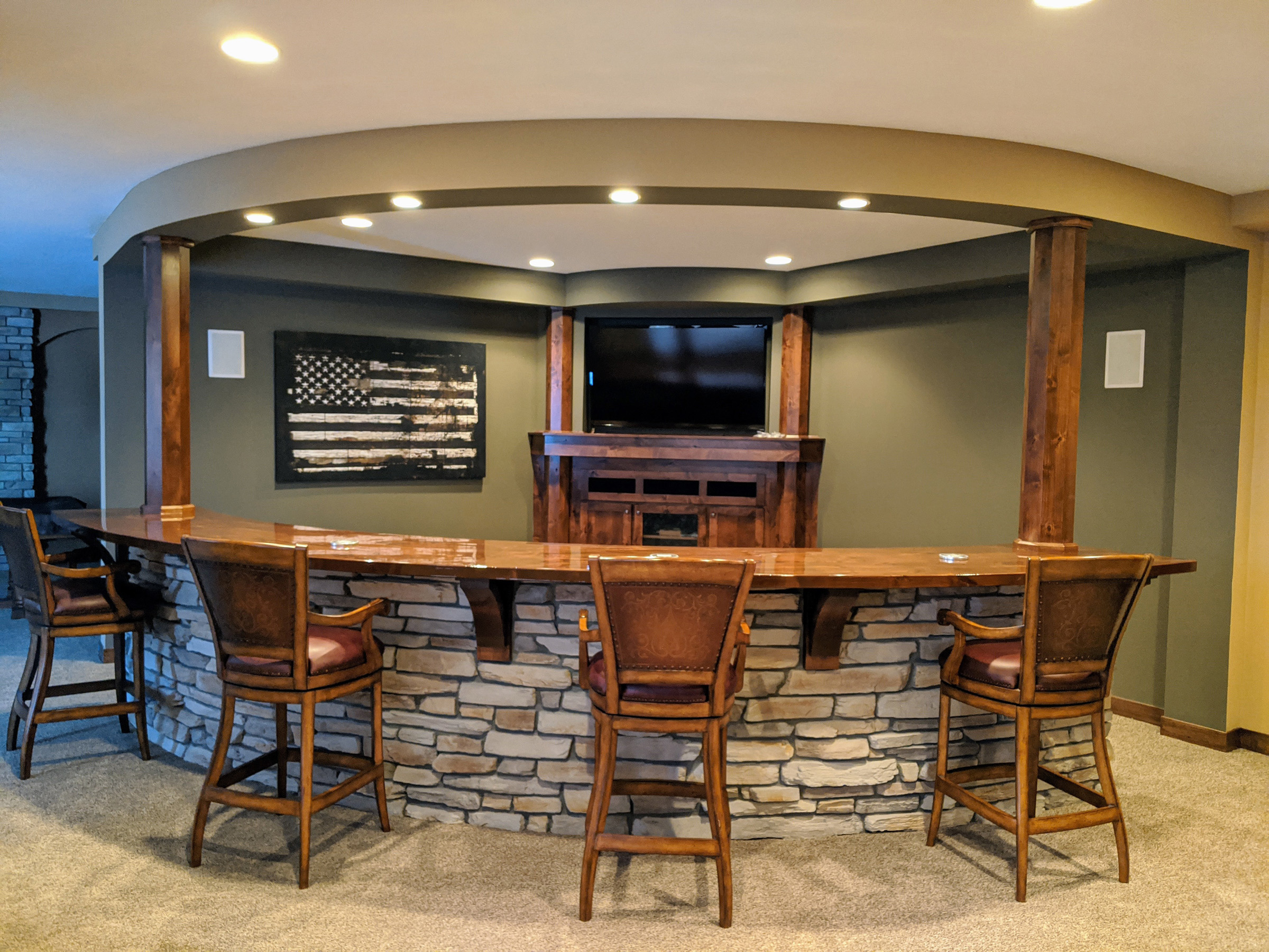 Lower Level Curved Media Room