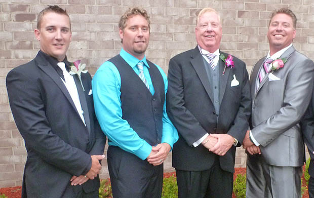 From left to right, Jon Ramey, Justin Budzynski, Tom Budzynski, Jason Budzynski