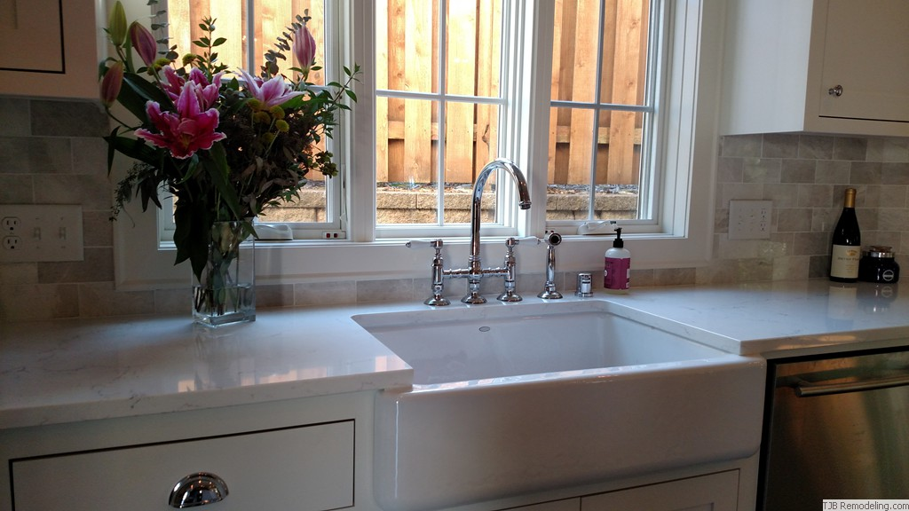 Farmhouse sink with a view