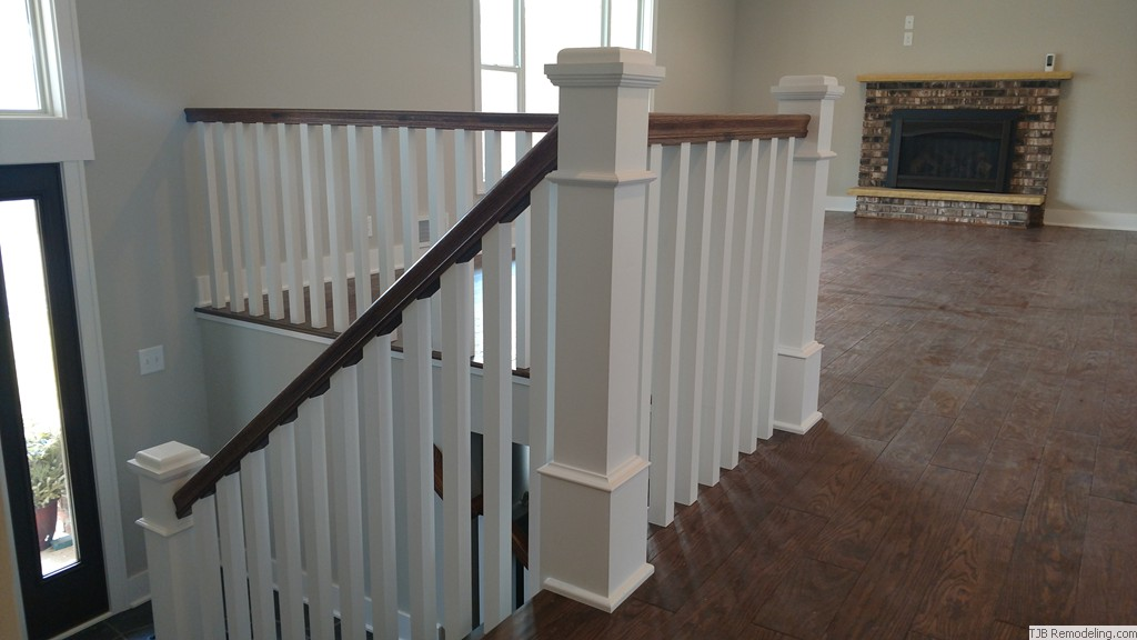 "Railing w/ 6"" newel posts"