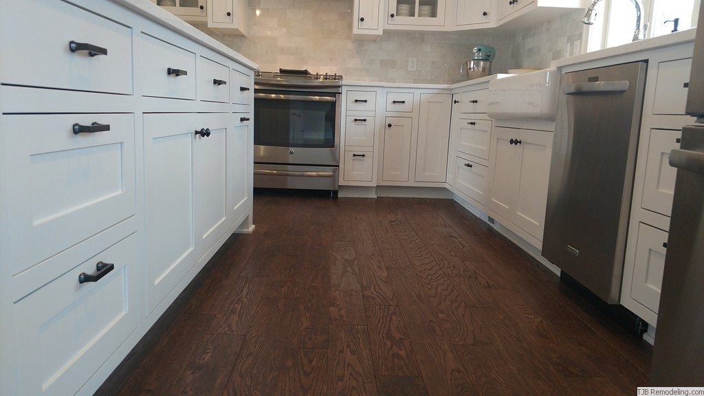 "3/4"" x 5-12/"" Solid hand scarped Oak floors"