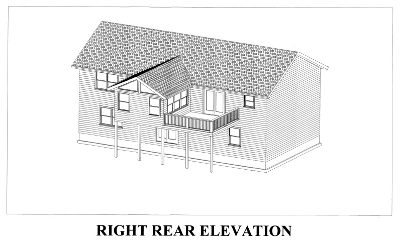 CAD view right rear elevation